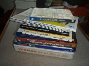 a small selection of the books used on the boat in the past year