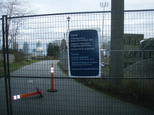 bike path closure