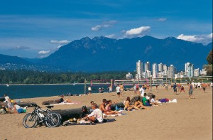 Kits Beach in the summer