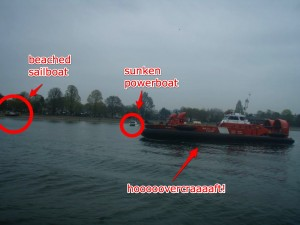 sunken boats and hovercraft