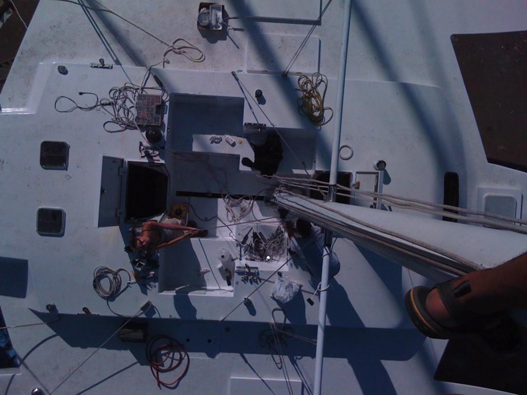up the mast!