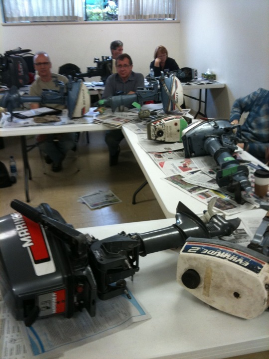 outboard repair class, saturday morning, 10am