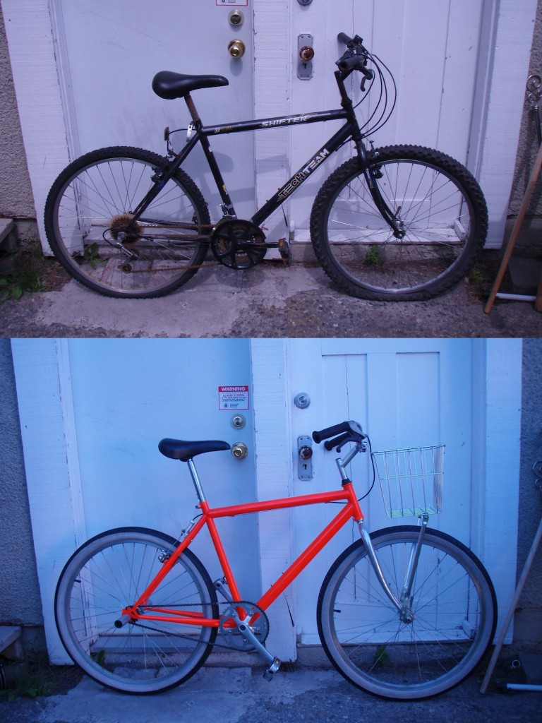 the rad playa cruiser, before and after