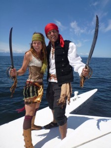 Drew and Miya, pirates at large