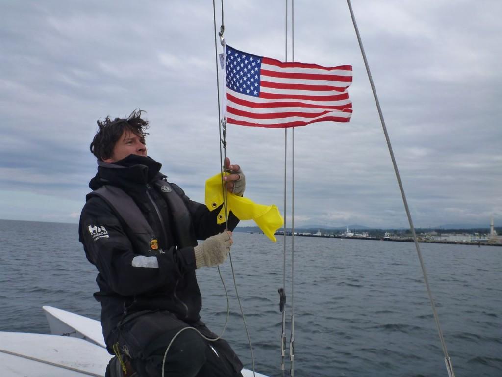 raising the courtesy flag