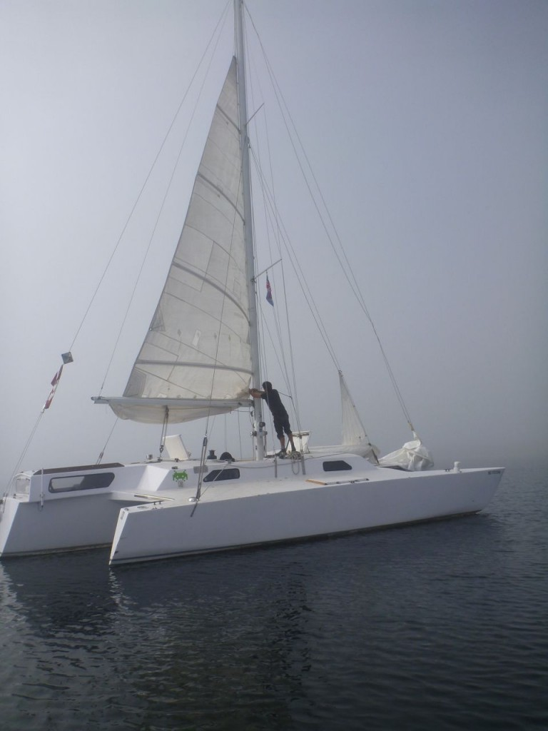working on the reefing systems