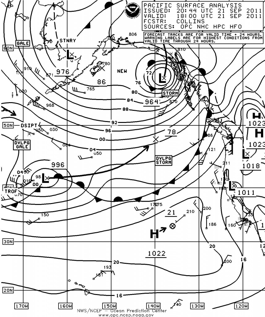 surface analysis for the eastern pacific ocean