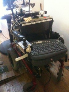 a robot wheelchair at the Noisebridge hack space