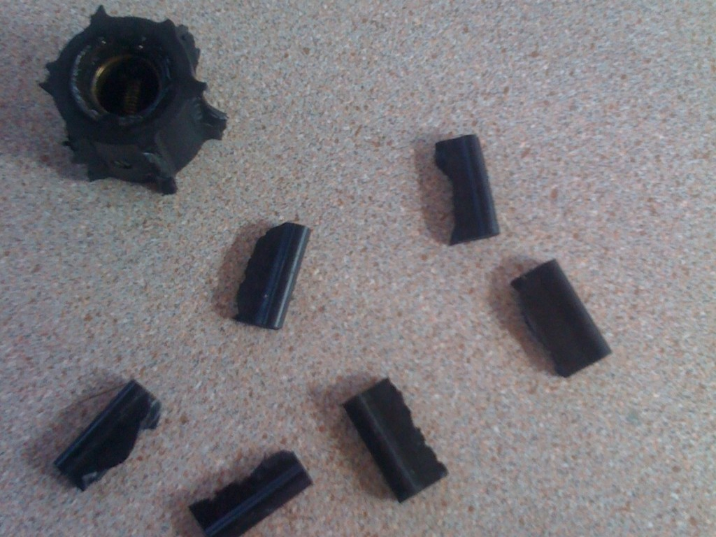the remains of the impeller