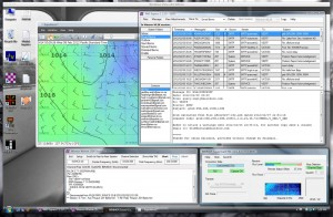 the vmware desktop running various ham radio software