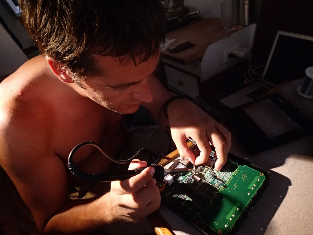 electronics repair on the new inboard computer